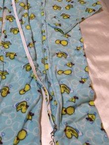 他の写真2: 大人用 カバーオール大人用ベビーパジャマ(アヒルさん柄水色)
