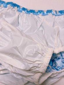 他の写真3: 大人用 防水パンツ 水玉水色フリル