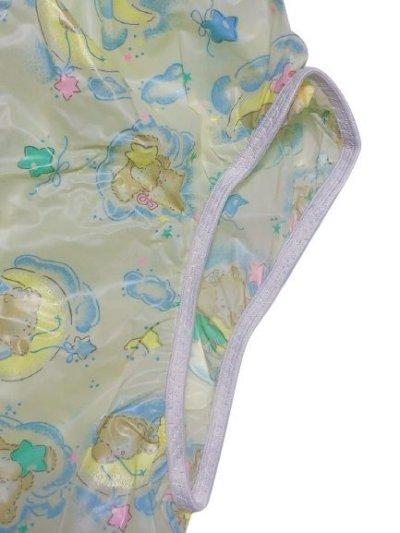 画像2: 大人用 防水パンツ(PVC) クマさんとお月様柄 イエロー