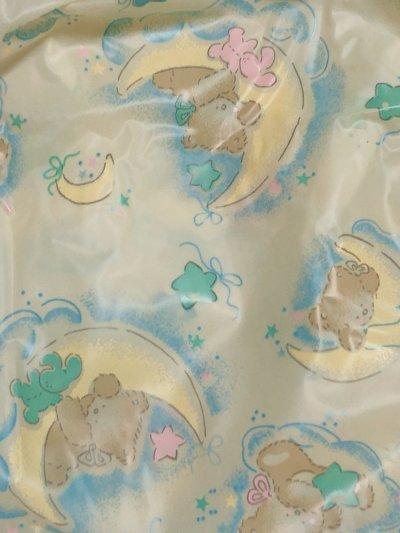 画像3: 大人用 防水パンツ(PVC) クマさんとお月様柄 イエロー