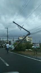 台風すごかったです・汗