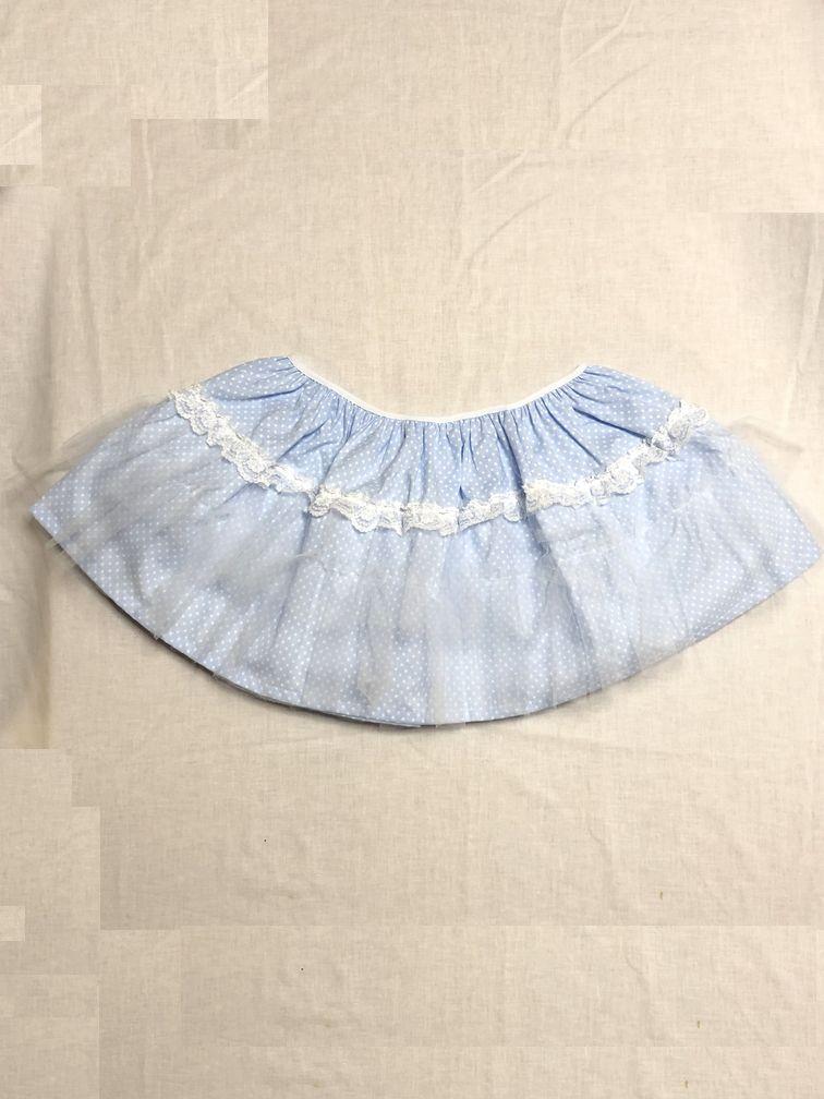 eb4597b489a9e 大人用ベビースカートです · 綺麗なベビーブルーの水玉柄